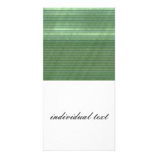 metal art stripes green photo greeting card