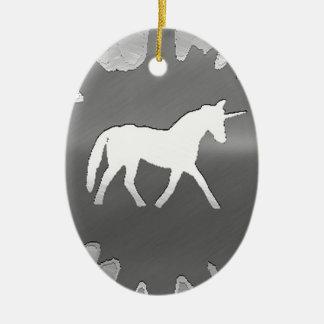 metal art unicon silver ceramic ornament