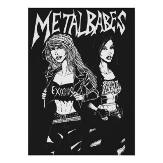Metal Babes Posters