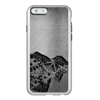 Metal background with mechanical damage incipio feather® shine iPhone 6 case
