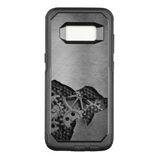 Metal background with mechanical damage OtterBox commuter samsung galaxy s8 case