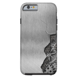 Metal background with mechanical damage tough iPhone 6 case
