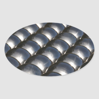 Metal balls oval sticker