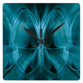 Metal Blue Glow Teeth Dentist Wall Clock