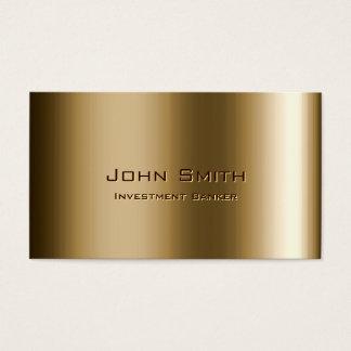 Metal Bronze Investment Banker Business Card