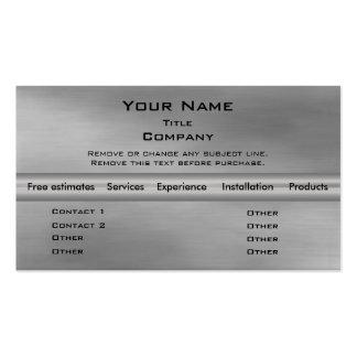 Metal Business Card 2.0 - Silver info bar