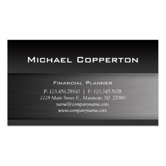 Metal Business Card Grey Header