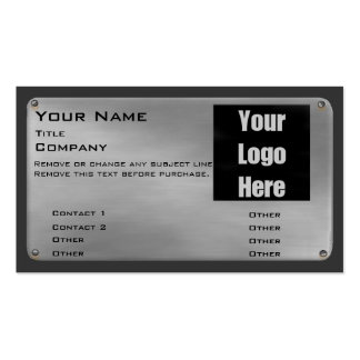 Metal Business Card II -silver- with logo