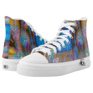 Metal Butterflies High Tops