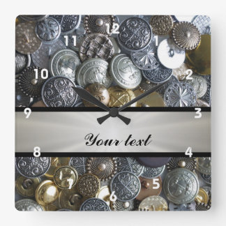 Metal Button Collection Wall Clocks