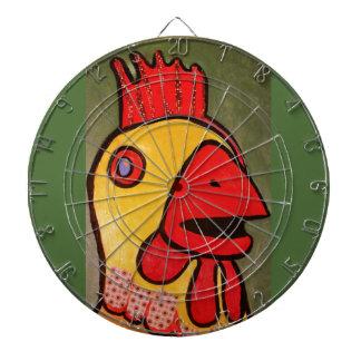 Metal Cage Dartboard with Big Chicken