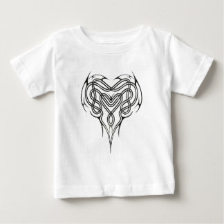 Metal Celtic Heart Knot Baby T-Shirt