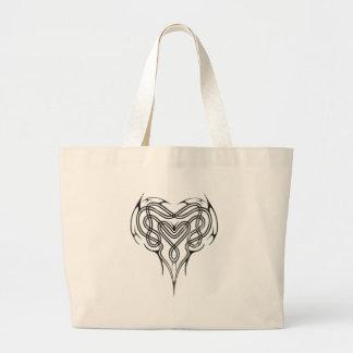 Metal Celtic Heart Knot Jumbo Tote Bag