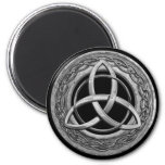Metal Celtic Trinity Knot 6 Cm Round Magnet