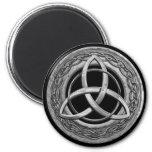 Metal Celtic Trinity Knot 6 Cm Round Magnet