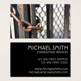 Metal Chain Link Fence Original NYC Photograph Business Card