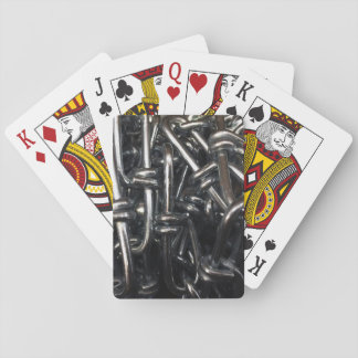 Metal Chain Link Iron Chains Abstract Industrial Playing Cards
