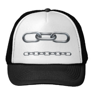 Metal chain links hat