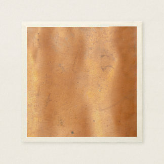 Metal copper texture disposable napkin