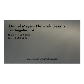metal, Daniel Meyers Network Design, Los Angele... Business Card