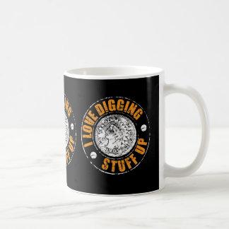 Metal detecting mug, for those who love the hobby coffee mug