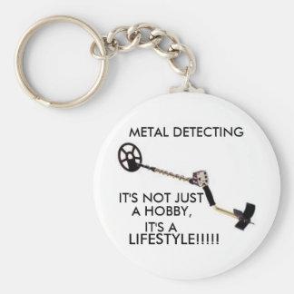 Metal Detector Basic Round Button Key Ring