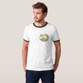 Metal Detector: Emblem front, image back T-Shirt