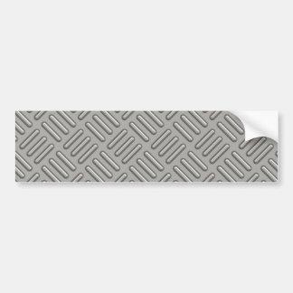 Metal Diamond Plate Patterned Bumper Sticker