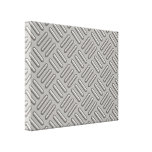 Metal Diamond Plate Patterned Stretched Canvas Print