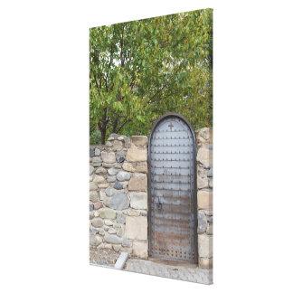 Metal Door And Wall Canvas Print