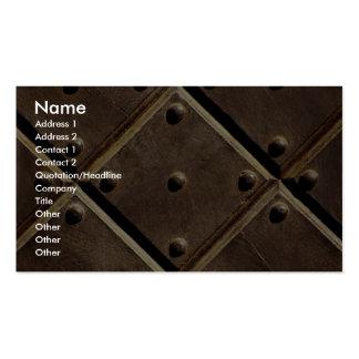 Metal door pattern Photo Business Card Templates