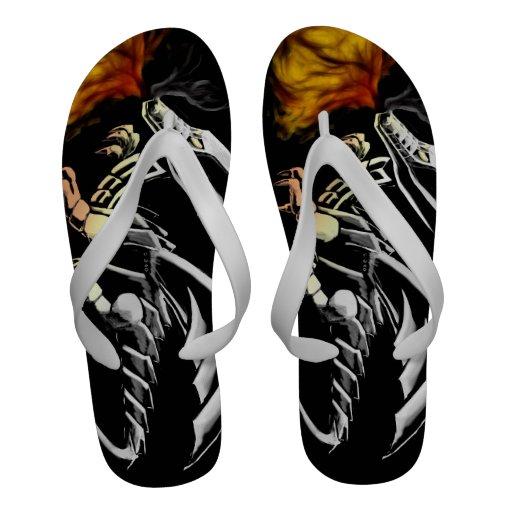 Metal dragoon flip flops