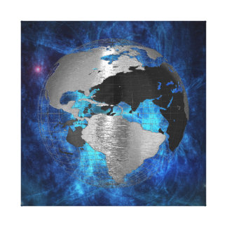 Metal Earth Globe Gallery Wrapped Canvas