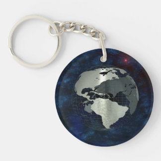 Metal Earth Globe Key Ring