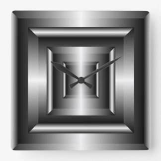 Metal Effect Frame Wall Clock