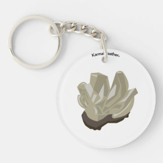 Metal element Double-Sided round acrylic key ring