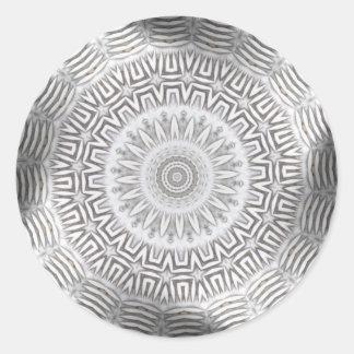 METAL Element Kaleido Pattern Round Sticker