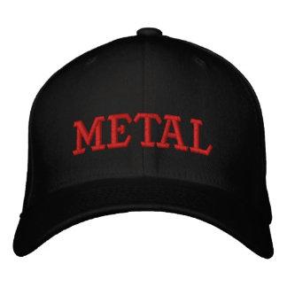 METAL EMBROIDERED BASEBALL CAP