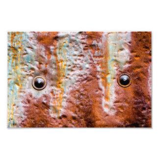 metal eyes rust photo