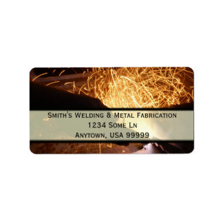 Metal Fabrication and Welding Address Label