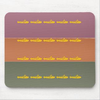 Metal Finish Color Stripe - Maritime Submarine Mouse Pad