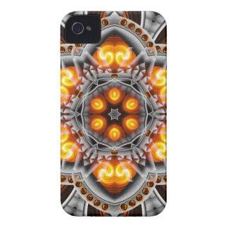 Metal & Flame Mandala iPhone 4 Cases