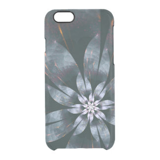 Metal Flower Clear iPhone 6/6S Case