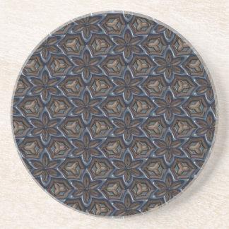 Metal Flower Sandstone Coaster by Julie