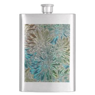 Metal Flowers Hip Flask