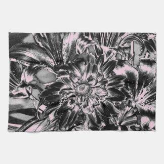 Metal Flowers Tea Towel