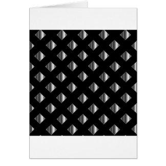 metal grid background greeting card