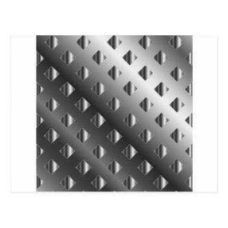 metal grid background postcard
