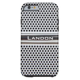 Metal grid personalised iPhone 6 case Tough iPhone 6 Case