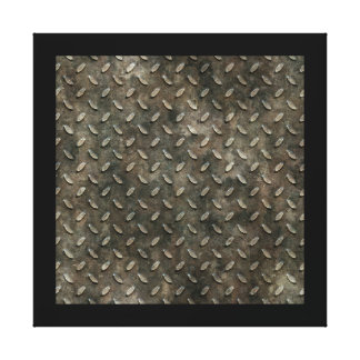 Metal Grid Wall Canvas Gallery Wrapped Canvas